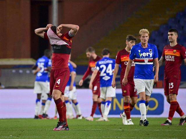 La Roma perde anche in campionato: la Sampdoria si porta a casa i 3 punti