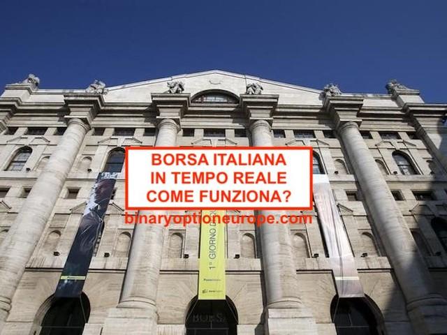 Quanto vale la Borsa italiana in tempo reale oggi? Come funziona?