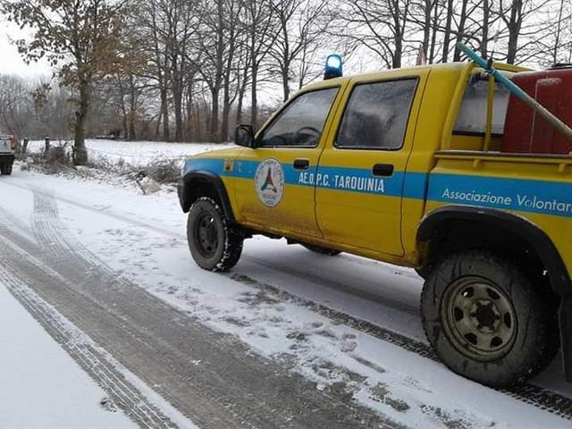 Maltempo e ghiaccio: a Tarquinia pronto il piano di intervento Aeopc