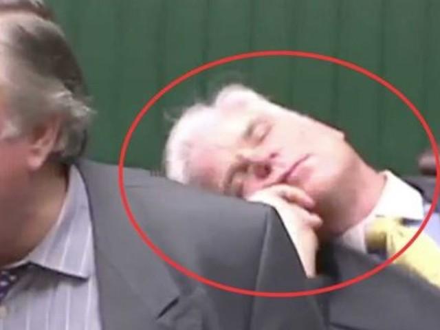 Il discorso sulla Brexit di questo parlamentare era così avvincente che il collega si è addormentato