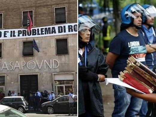 La questura rassicura gli abusivi di CasaPound: vengono sfrattati solo i bambini poveri, non i ricchi neofascisti che lasciano i loro conti da pagare agli italiani