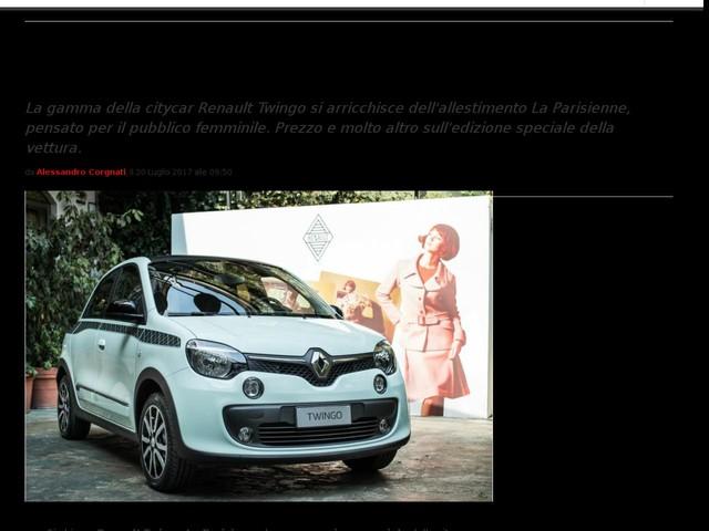 Renault Twingo La Parisienne: versione speciale con prezzo da 14.550 euro [FOTO]