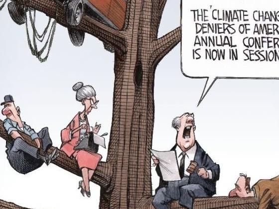 I negazionisti climatici in riunione