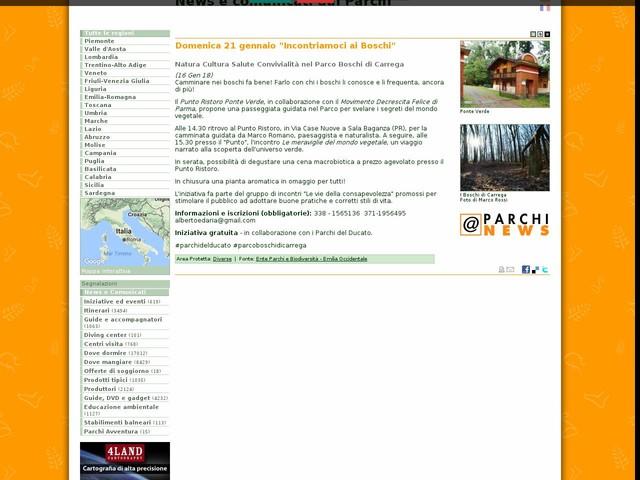 """Ente Parchi e Biodiversità - Emilia Occidentale - Domenica 21 gennaio """"Incontriamoci ai Boschi"""""""