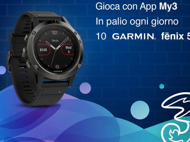 Volete un Garmin fenix 5? Provate a vincerlo grazie a 3 Italia e la sua app (foto)