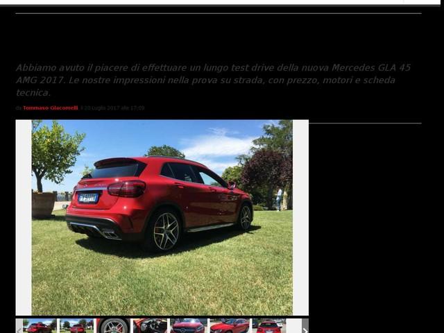 Mercedes GLA 45 AMG 2017: prezzo, scheda tecnica e prova [FOTO]