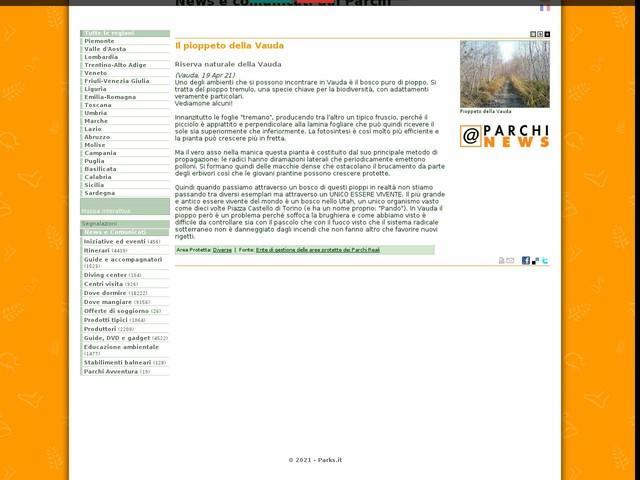Ente di gestione delle aree protette dei Parchi Reali - Il pioppeto della Vauda