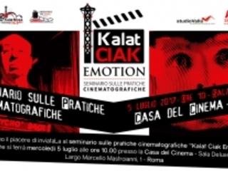 "Seminario ""Kalat Ciak Emotion"" Casa del Cinema Sala Deluxe Roma"