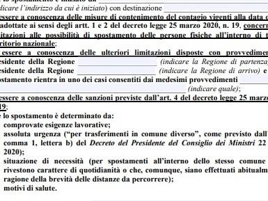 Autocertificazione Covid PDF editabile [versione 26/03/2020]