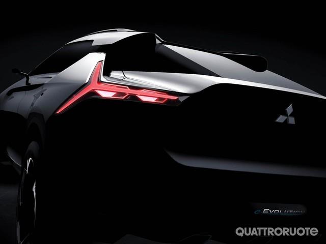 Mitsubishi e-Evolution - Primo teaser della Suv coupé elettrica