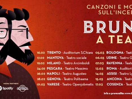 Brunori Sas in tour nel 2018 con Brunori a teatro – canzoni e monologhi sull'incertezza: tutti i concerti