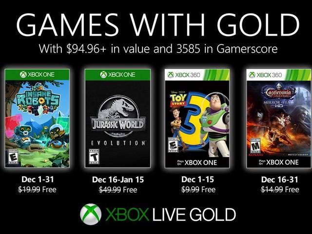 Games With Gold: svelati i giochi gratis per Xbox One e Xbox 360 di dicembre 2019