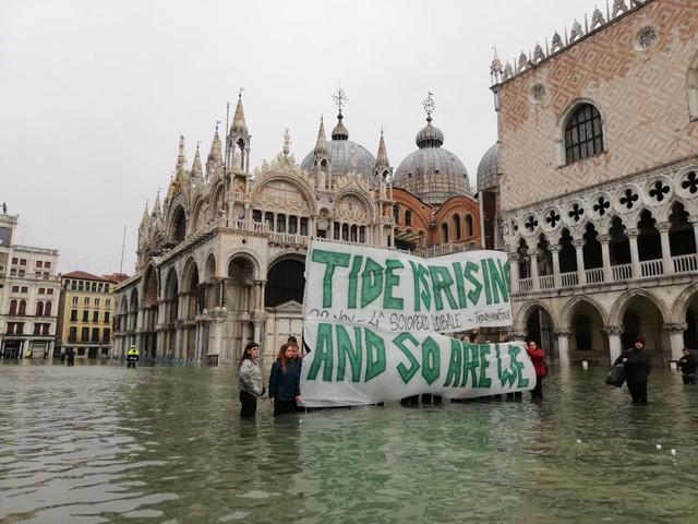 Ispra, a Venezia le emergenze per l'acqua alta sono già raddoppiate rispetto agli anni '90