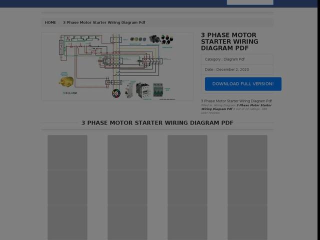 Phase Motor Starter Wiring Diagram Pdf