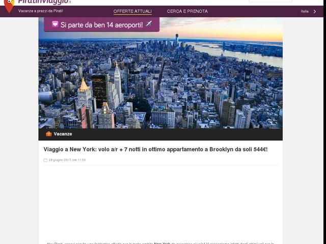 Viaggio a New York: volo a/r + 7 notti in ottimo appartamento a Brooklyn da soli 544€!