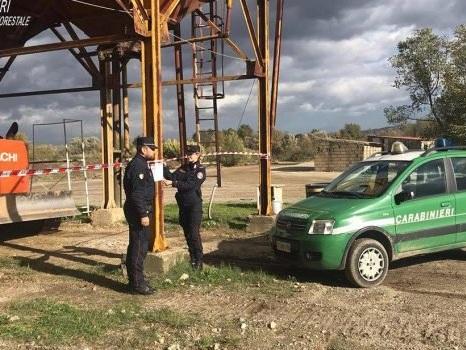 Occupazione abusiva del demanio, sequestrati due impianti di calcestruzzo tra Lattarico e Luzzi