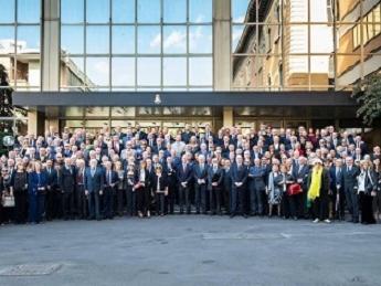 Gli Ufficiali del Corpo delle Guardie di PS riuniti a Roma per il 55.nale della loro Accademia