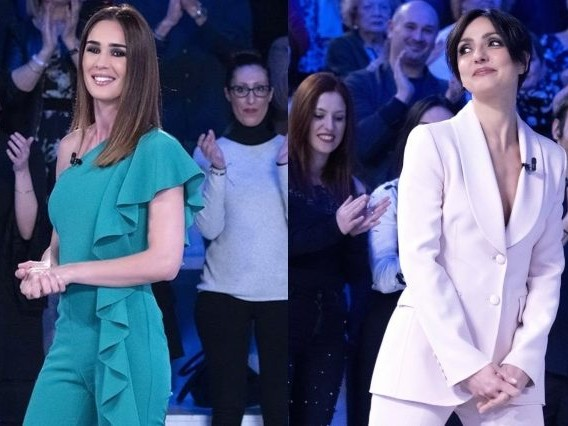 Silvia Toffanin in verde, Ambra Angiolini in bianco: a Verissimo trionfano i look primaverili