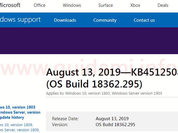 Windows 10 disponibile il nuovo aggiornamento cumulativo di agosto 2019 per tutte le versioni supportate