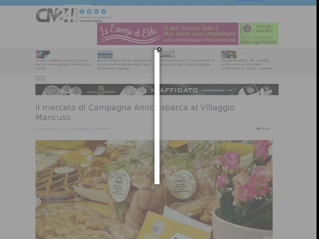 Il mercato di Campagna Amica sbarca al Villaggio Mancuso