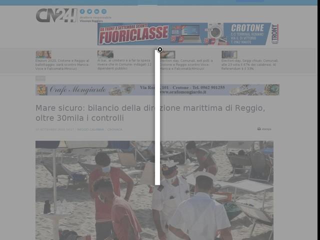 Mare sicuro: bilancio della direzione marittima di Reggio, oltre 30mila i controlli