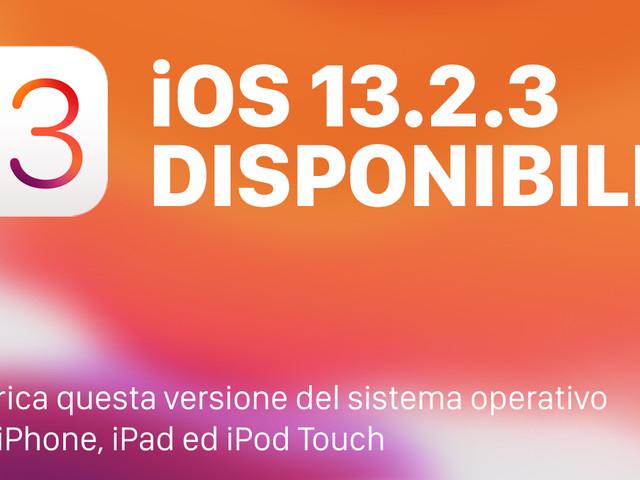 Apple rilascia iOS 13.2.3 per tutti con correzione e miglioramenti [Download e Changelog]