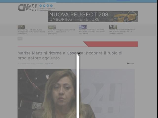 Marisa Manzini ritorna a Cosenza: ricoprirà il ruolo di procuratore aggiunto