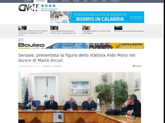 Sersale, presentata la figura dello statista Aldo Moro nel lavoro di Mario Arcuri