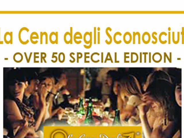 """""""La Cena degli Sconosciuti - Over 50 special edition"""" al Perpiacere Restaurant Cafe di Limena"""