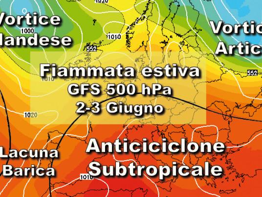 Persistente anticiclonico subtropicale. Vediamo i dettagli
