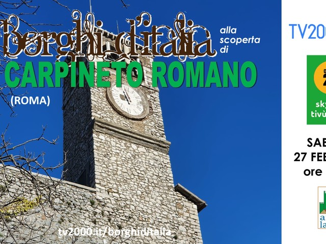 """Carpineto Romano a """"Borghi d'Italia"""" guardando al futuro"""