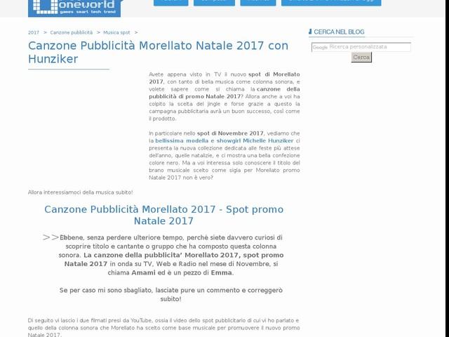Canzone Pubblicità Morellato Natale 2017 con Hunziker