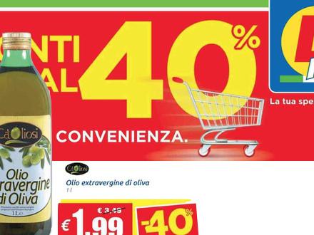 Olio extra vergine a meno di 2 euro al litro! Un record in Italia. Ma non è un buon segnale