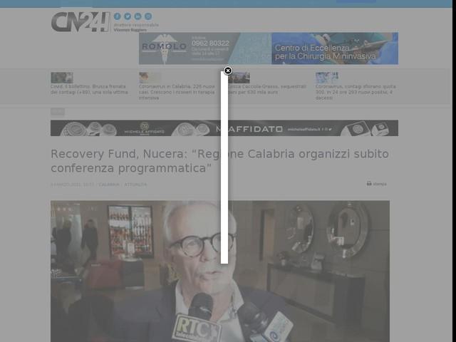 """Recovery Fund, Nucera: """"Regione Calabria organizzi subito conferenza programmatica"""""""