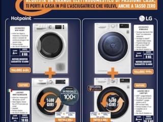 Unieuro come Euronics: dal 25 settembre all'8 ottobre 2020 sconti sulle asciugatrici in abbinata