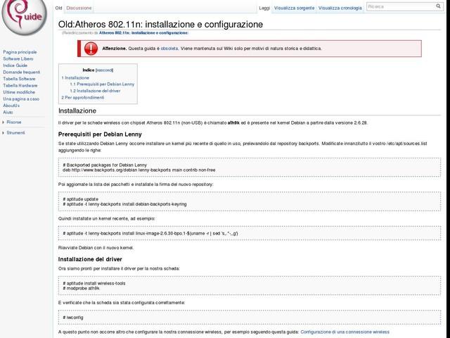 Atheros 802.11n: installazione e configurazione