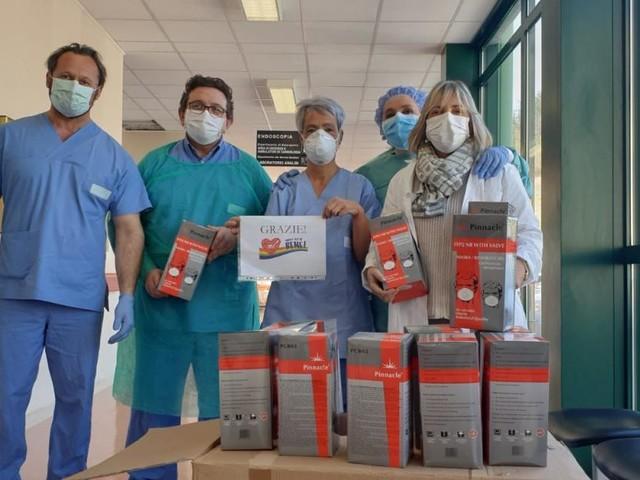 Nuovo reparto Covid all'ospedale di Macerata grazie al contributo della Andrea Bocelli Foundation