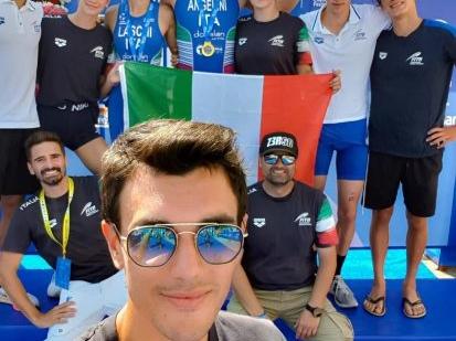 Antonello Mastrofilippo della Tommaso Assi Triathlon team in Turchia nello staff tecnico della nazionale giovanile