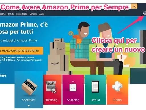 Come Avere Amazon Prime Gratis per Sempre e Legalmente