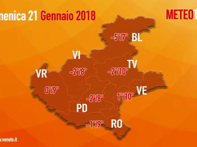 Previsioni del tempo in Veneto per il weekend: qualche debole precipitazione sulle Dolomiti