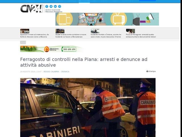 Ferragosto di controlli nella Piana: arresti e denunce ad attività abusive