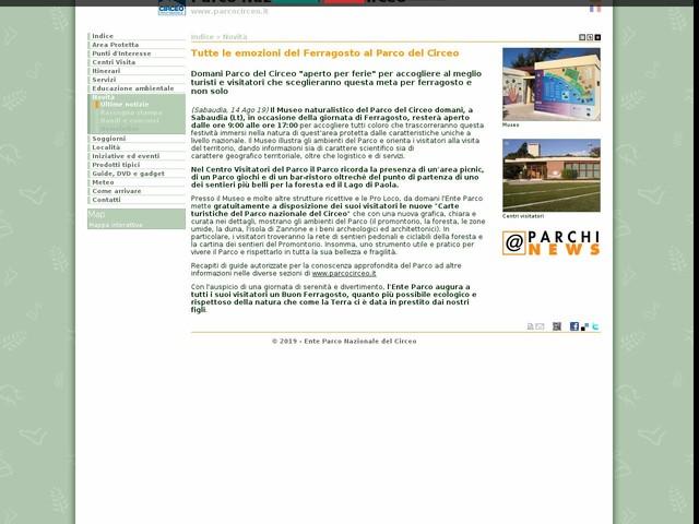 PN Circeo - Tutte le emozioni del Ferragosto al Parco del Circeo