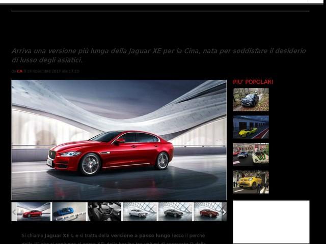 Jaguar XE L: passo lungo e più lusso per la berlina in Cina [FOTO]