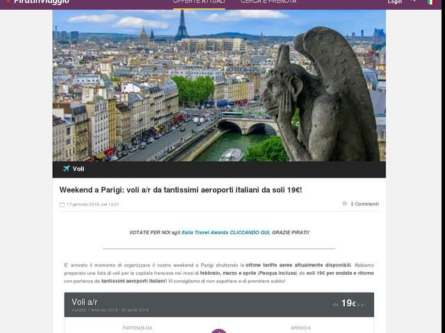 Weekend a Parigi: voli a/r da tantissimi aeroporti italiani da soli 19€!