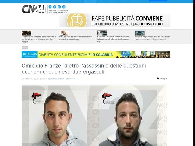 Omicidio Franzé: dietro l'assassinio delle questioni economiche, chiesti due ergastoli