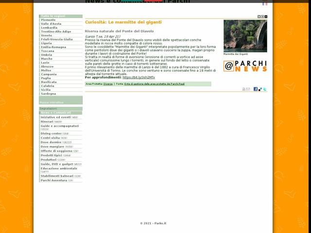 Ente di gestione delle aree protette dei Parchi Reali - Curiosità: Le marmitte dei giganti