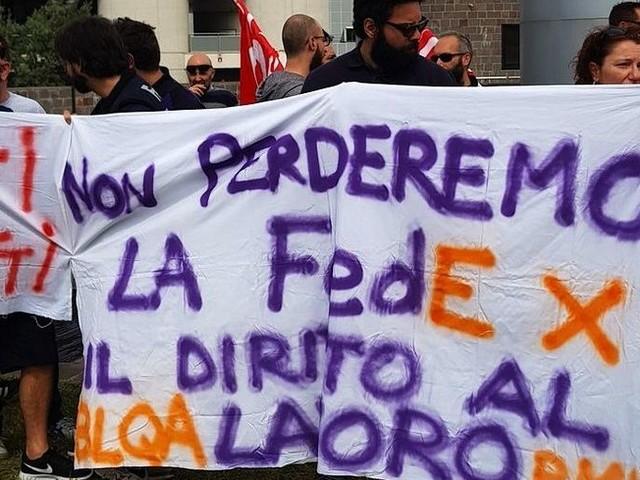 Esuberi e trasferimenti, è sciopero Fedex-Tnt