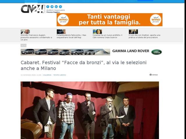 """Cabaret. Festival """"Facce da bronzi"""", al via le selezioni anche a Milano"""