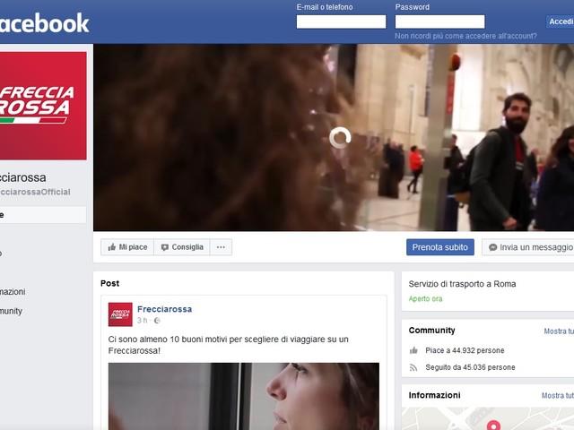 Il Frecciarossa sbarca su Facebook