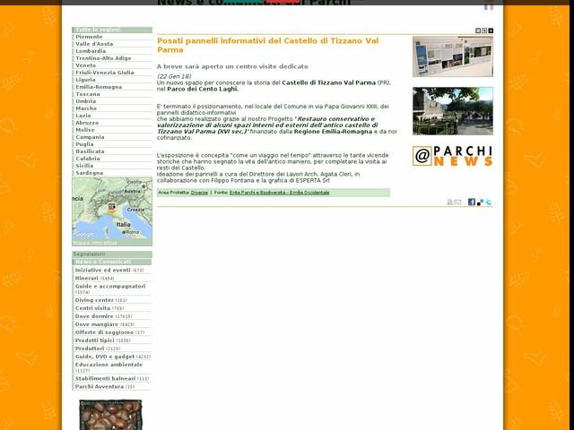 Ente Parchi e Biodiversità - Emilia Occidentale - Posati pannelli informativi del Castello di Tizzano Val Parma